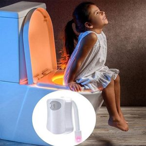 Smart Waterproof Motion Sensor Toilet Seat Night Light in 8 Colors