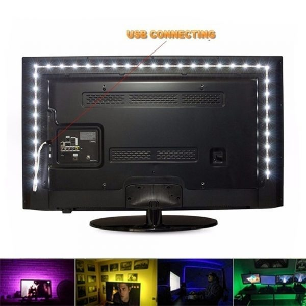 5v USB Interface RGB LED Light Strip Room Light with 3 Key Controller_10