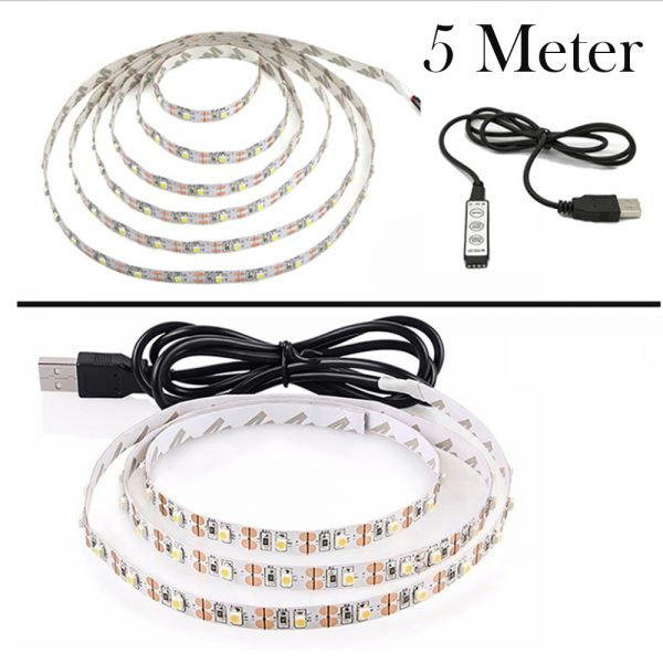 5v USB Interface RGB LED Light Strip Room Light with 3 Key Controller_9