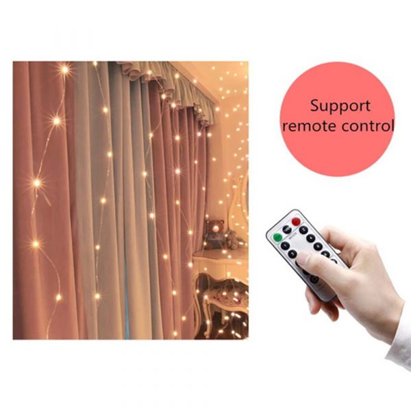 USB Remote Controlled Smart LED Light Curtain with Hook in White, Warm White and Colorful_14