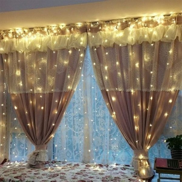 USB Remote Controlled Smart LED Light Curtain with Hook in White, Warm White and Colorful_5