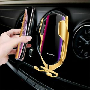 Infrared Sensor Wireless Car Charger for QI Devices and Car Phone Holder Air Vent Clip Type