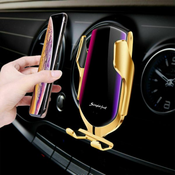 Infrared Sensor Wireless Car Charger for QI Devices and Car Phone Holder Air Vent Clip Type_1
