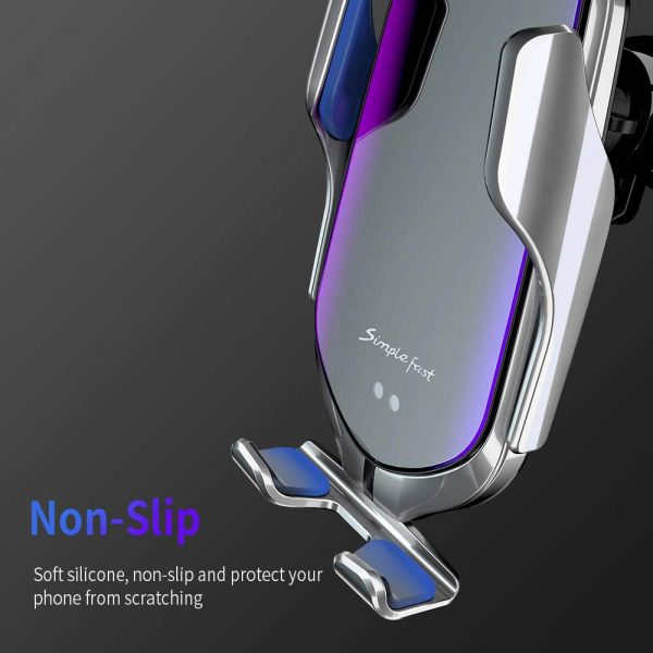 Infrared Sensor Wireless Car Charger for QI Devices and Car Phone Holder Air Vent Clip Type_11