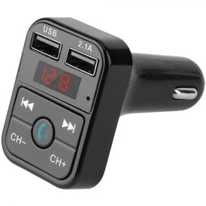 Wireless Bluetooth FM Transmitter Hands-free Car Kit MP3 Audio Music Player Dual USB Radio Modulator and 2.1A USB Charger