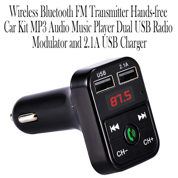 Wireless Bluetooth FM Transmitter Hands-free Car Kit MP3 Audio Music Player Dual USB Radio Modulator and 2.1A USB Charger_6