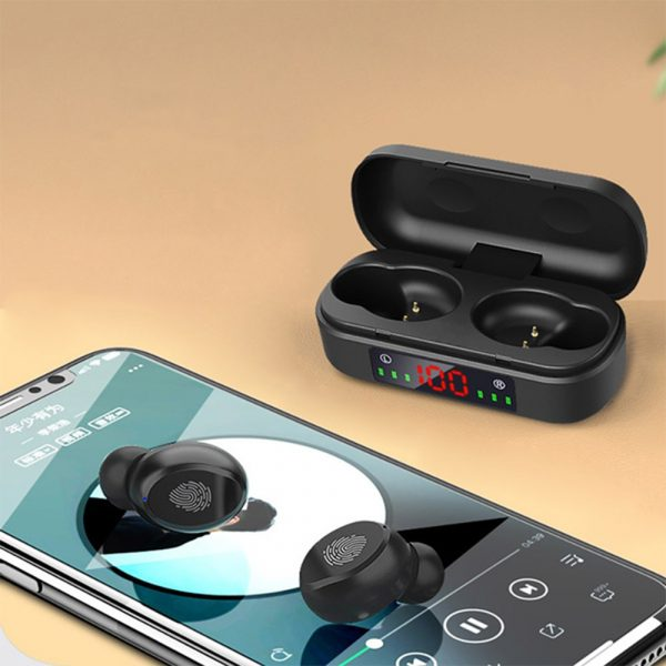 V8 Wireless Earphones Bluetooth 5.0 8D Bass Stereo Waterproof Earbuds Hands-free Headset with Microphone and Charging Case_6