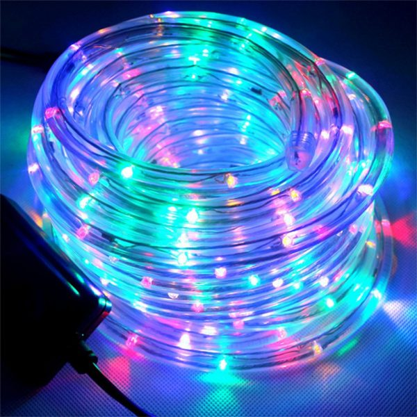 Remote Controlled 8- Function USB Interface PVC Tube String Lights in White, Warm Yellow and Multi-Color_1
