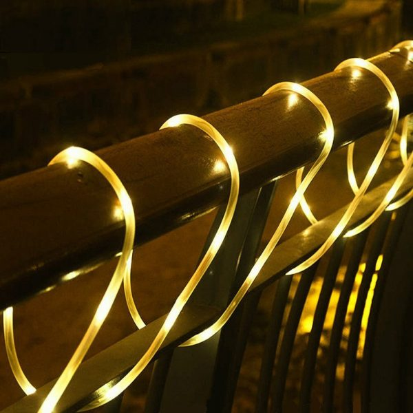 Remote Controlled 8- Function USB Interface PVC Tube String Lights in White, Warm Yellow and Multi-Color_2