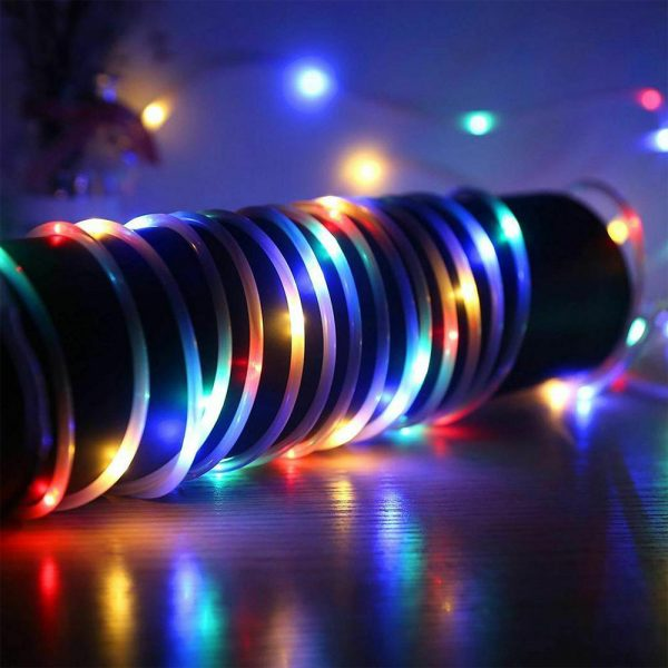 Remote Controlled 8- Function USB Interface PVC Tube String Lights in White, Warm Yellow and Multi-Color_3