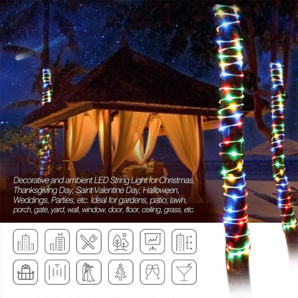 Remote Controlled 8- Function USB Interface PVC Tube String Lights in White, Warm Yellow and Multi-Color_16