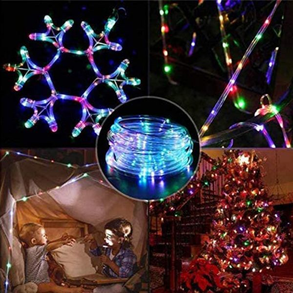 Remote Controlled 8- Function USB Interface PVC Tube String Lights in White, Warm Yellow and Multi-Color_5