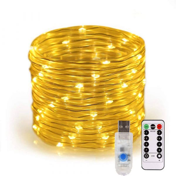 Remote Controlled 8- Function USB Interface PVC Tube String Lights in White, Warm Yellow and Multi-Color_14