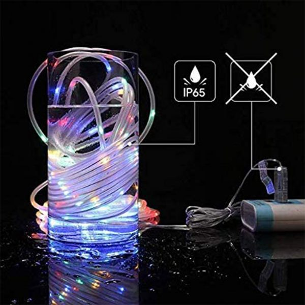 Remote Controlled 8- Function USB Interface PVC Tube String Lights in White, Warm Yellow and Multi-Color_7