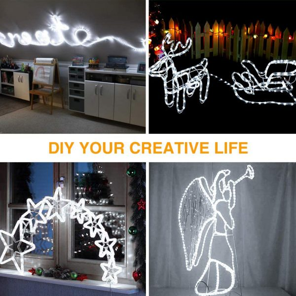 Remote Controlled 8- Function USB Interface PVC Tube String Lights in White, Warm Yellow and Multi-Color_9