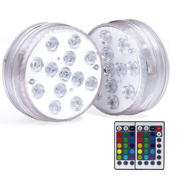 10/13 Lights Remote Controlled LED Diving Light with Magnetic Suction Cup for Fish Tank and Swimming Pool_0