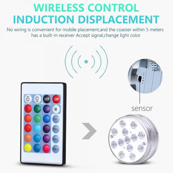 10/13 Lights Remote Controlled LED Diving Light with Magnetic Suction Cup for Fish Tank and Swimming Pool_14