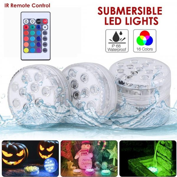 10/13 Lights Remote Controlled LED Diving Light with Magnetic Suction Cup for Fish Tank and Swimming Pool_13