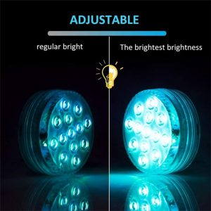 10/13 Lights Remote Controlled LED Diving Light with Magnetic Suction Cup for Fish Tank and Swimming Pool