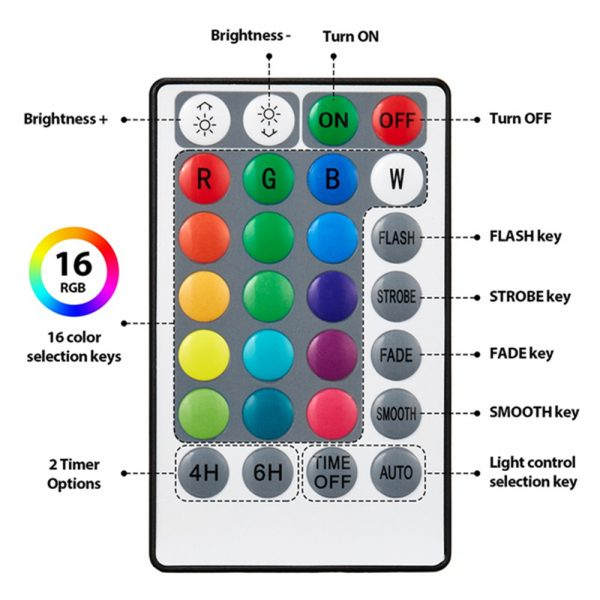 10/13 Lights Remote Controlled LED Diving Light with Magnetic Suction Cup for Fish Tank and Swimming Pool_3