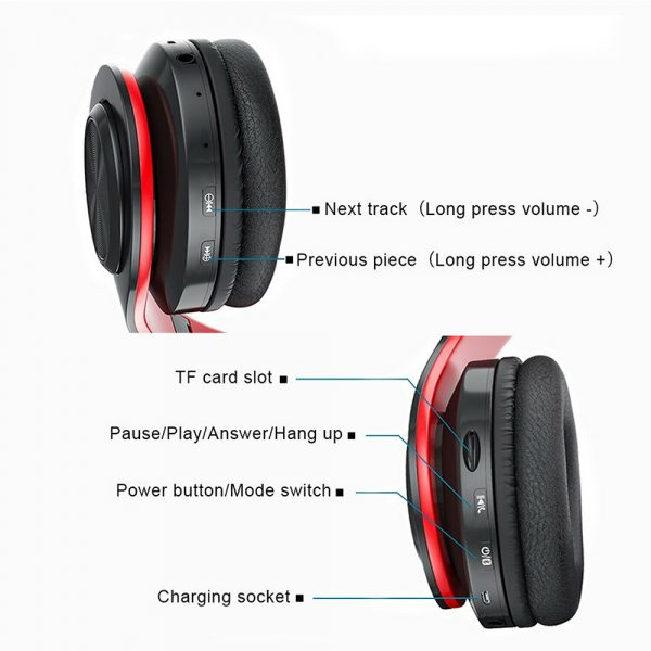 Wireless Bluetooth Rechargeable LED Sports and Gaming Headset_9