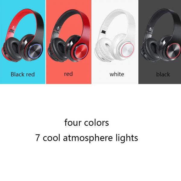 Wireless Bluetooth Rechargeable LED Sports and Gaming Headset_2