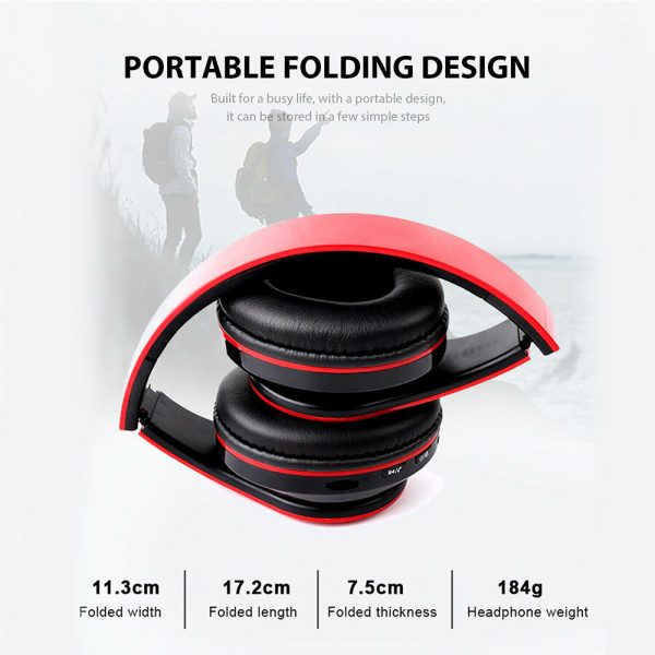 Wireless Bluetooth Rechargeable LED Sports and Gaming Headset_7