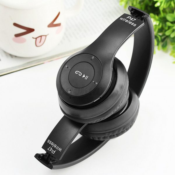 P47 Bluetooth Folding Stereo Headset for Music, Gaming and Exercising_2