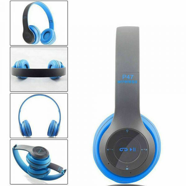 P47 Bluetooth Folding Stereo Headset for Music, Gaming and Exercising_15