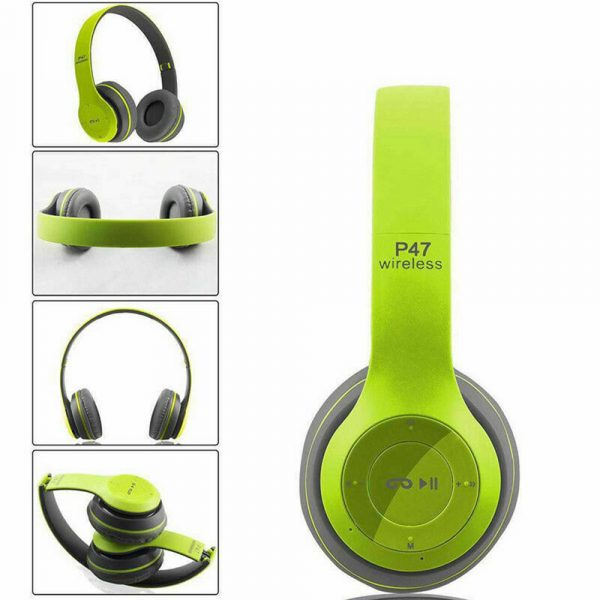 P47 Bluetooth Folding Stereo Headset for Music, Gaming and Exercising_16