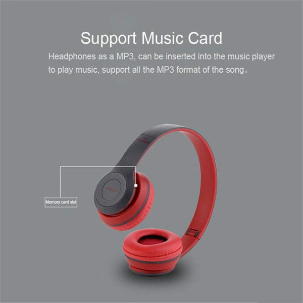 P47 Bluetooth Folding Stereo Headset for Music, Gaming and Exercising_3