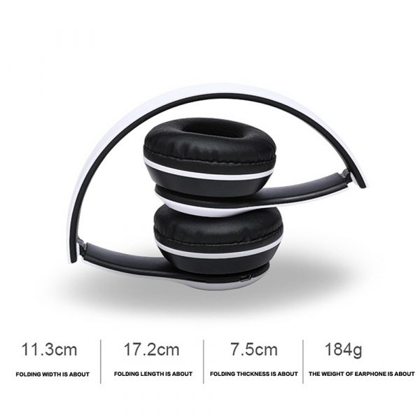 P47 Bluetooth Folding Stereo Headset for Music, Gaming and Exercising_5