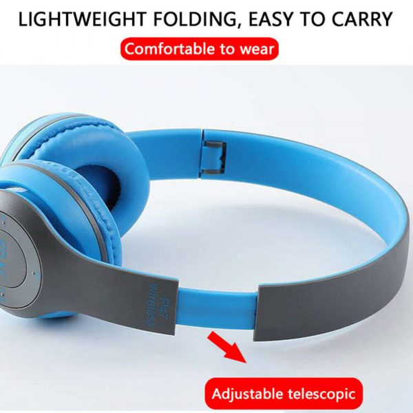 P47 Bluetooth Folding Stereo Headset for Music, Gaming and Exercising_6