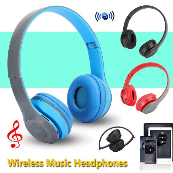 P47 Bluetooth Folding Stereo Headset for Music, Gaming and Exercising_7