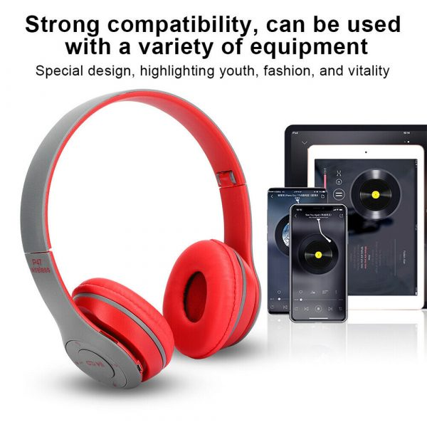 P47 Bluetooth Folding Stereo Headset for Music, Gaming and Exercising_8