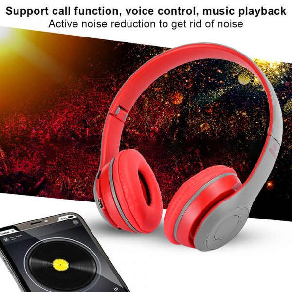 P47 Bluetooth Folding Stereo Headset for Music, Gaming and Exercising_9