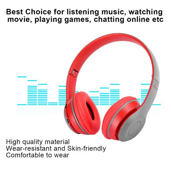 P47 Bluetooth Folding Stereo Headset for Music, Gaming and Exercising_10