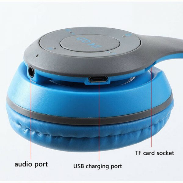 P47 Bluetooth Folding Stereo Headset for Music, Gaming and Exercising_11