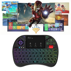 2 in 1 USB Rechargeable Wireless Miniature Backlit Mouse and QWERTY Keyboard