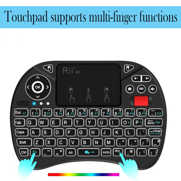 2 in 1 USB Rechargeable Wireless Miniature Backlit Mouse and QWERTY Keyboard_5
