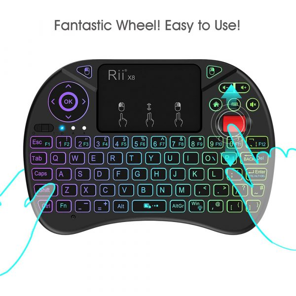 2 in 1 USB Rechargeable Wireless Miniature Backlit Mouse and QWERTY Keyboard_6