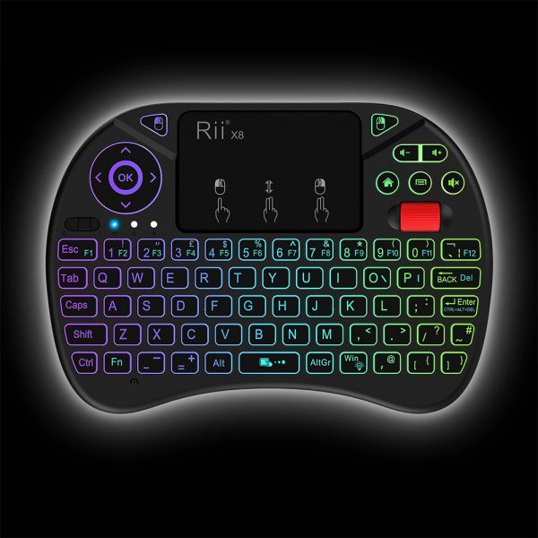 2 in 1 USB Rechargeable Wireless Miniature Backlit Mouse and QWERTY Keyboard_7