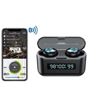 X35 Binaural Triple Display Wireless Bluetooth 5.0 In-ear Earphones with Built-in Mic and Charging Case