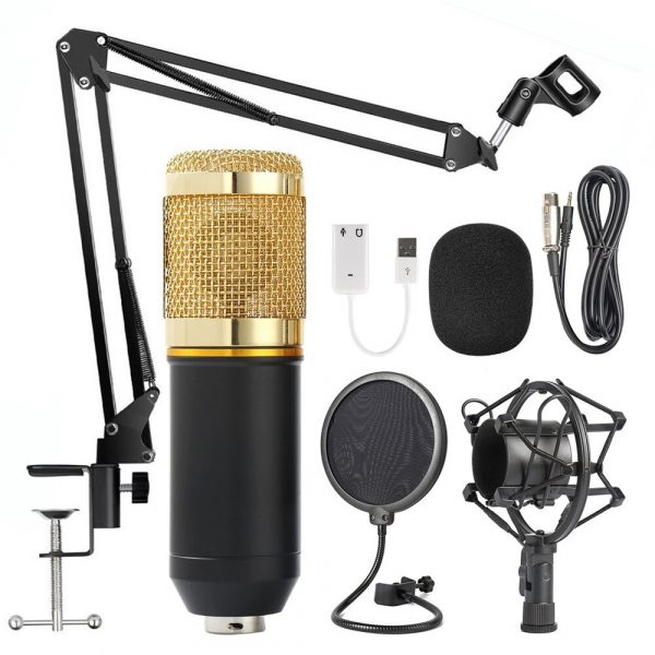 Karaoke Microphone BM-800 Studio Condenser Microphone for Broadcasting, Singing and Recording_0