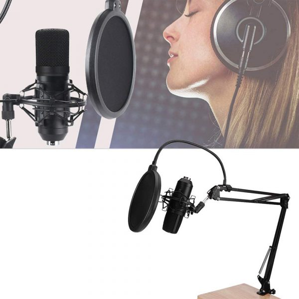 Karaoke Microphone BM-800 Studio Condenser Microphone for Broadcasting, Singing and Recording_1