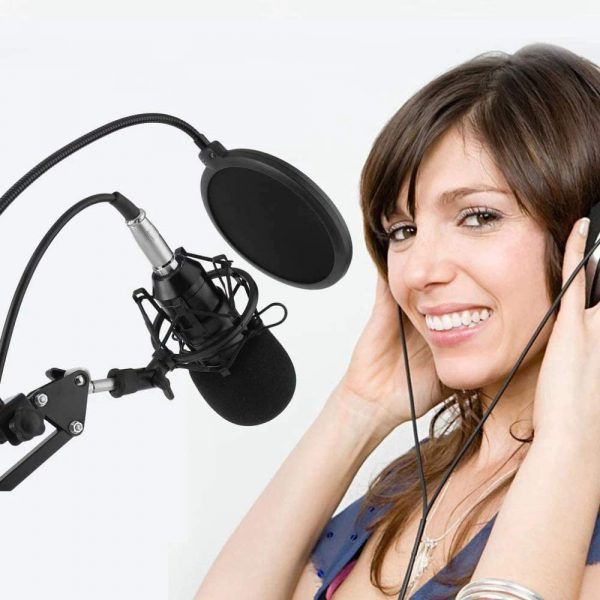 Karaoke Microphone BM-800 Studio Condenser Microphone for Broadcasting, Singing and Recording_2