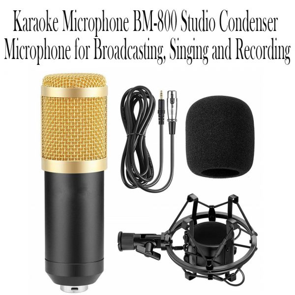Karaoke Microphone BM-800 Studio Condenser Microphone for Broadcasting, Singing and Recording_15