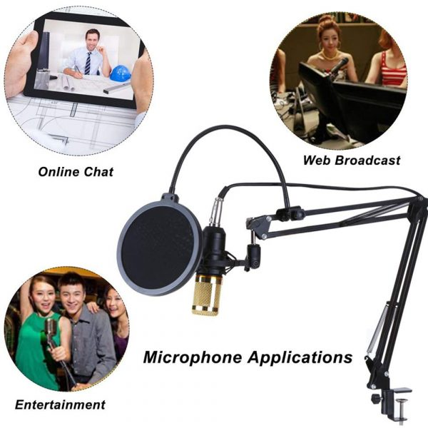 Karaoke Microphone BM-800 Studio Condenser Microphone for Broadcasting, Singing and Recording_8