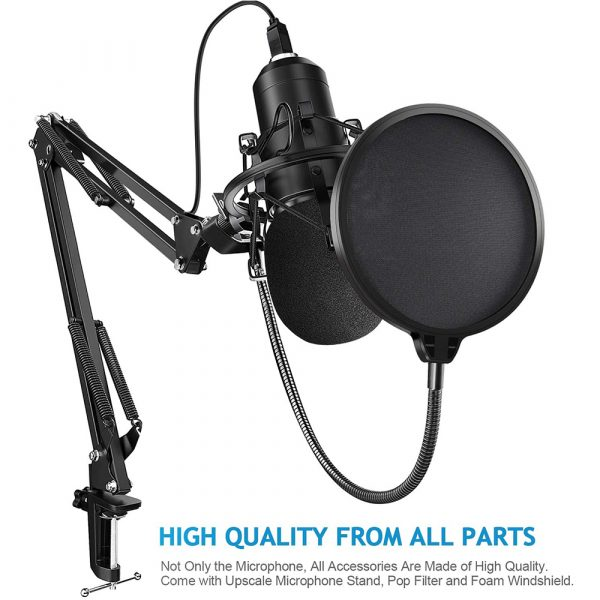 Karaoke Microphone BM-800 Studio Condenser Microphone for Broadcasting, Singing and Recording_10