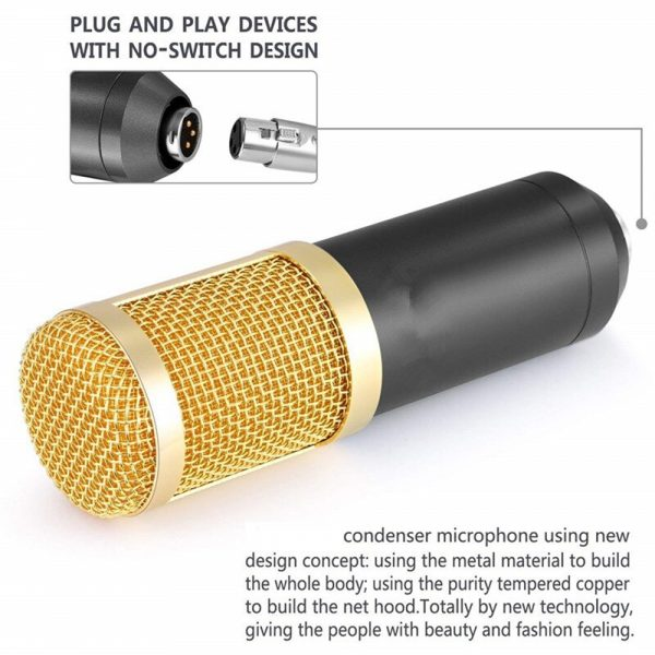 Karaoke Microphone BM-800 Studio Condenser Microphone for Broadcasting, Singing and Recording_13
